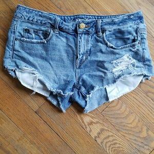 AEO Distressed Pocket Peaker Jean Shorts